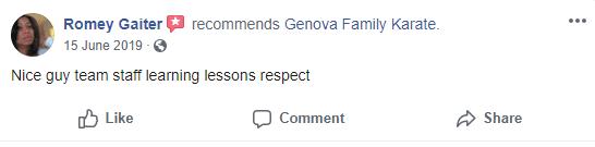 3, Genova Family Karate Elgin SC